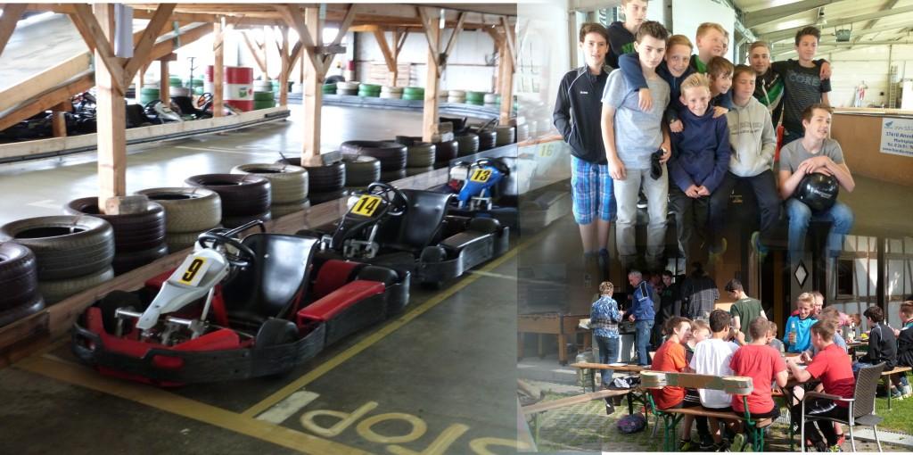 Saisonabschluß C-Jugend Kartbahn